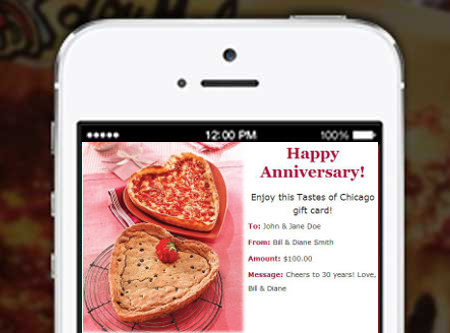 Pizza Pack Anniversary Email Gift Cards