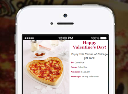 Valentine's Day Email Gift Cards