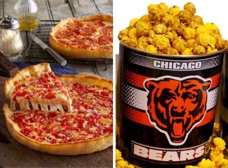 1 Bears Gallon Nuts on Clark Popcorn & 2 Lou's Pizzas
