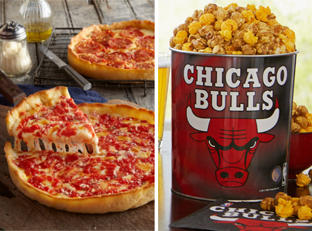 1 Bulls Gallon Nuts on Clark Popcorn & 2 Lou's Pizzas