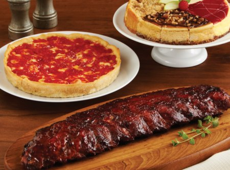 Pizza / Ribs / Cheesecake Combo