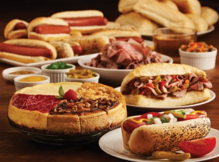 Vienna Hot Dog and Beef Kits with a Cheesecake