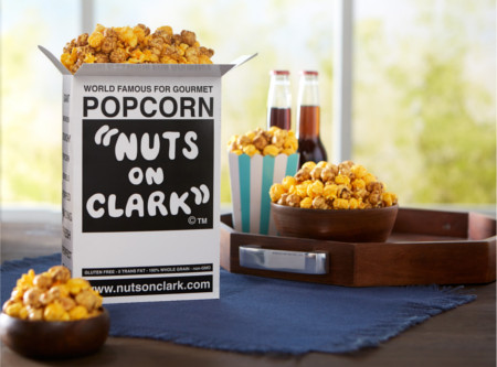 2-Quart Box of Nuts on Clark Popcorn & 2 Lou's Pizzas