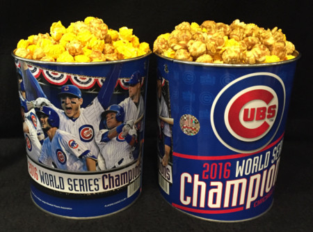 Nuts on Clark 2016 Cubs World Series Popcorn Gallon