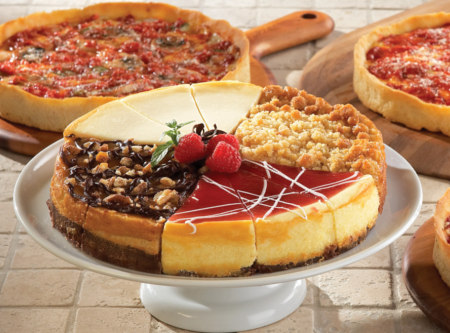 1 Eli's Sampler Cheesecake & 1 Lou's Pizza