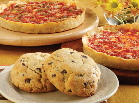 2 Carol's Cookies & 2 Pizzas