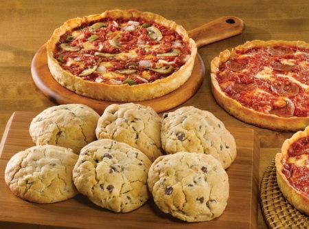3 Lou Malnati's Pizzas & 6 Carol's Cookies
