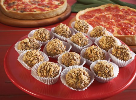 Kay's Chocolate Rum Balls & 2 Pizzas