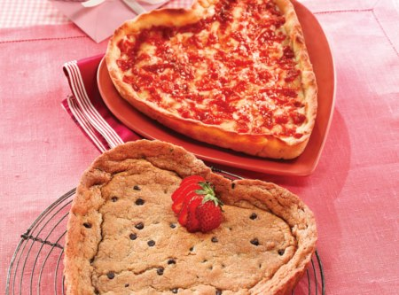 Heart Shaped Cookie &  Heart Shaped Pizza