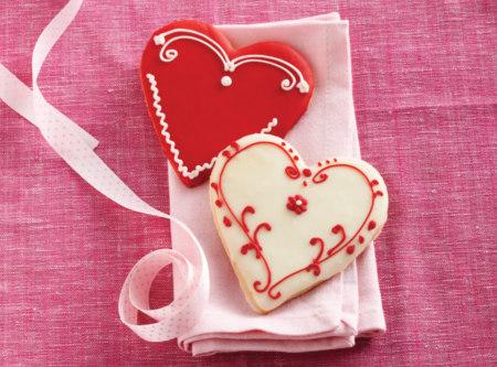 Heart Shaped Cookies from Deerfields Bakery