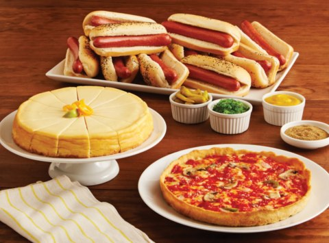 Pizza Hot Dogs Cheesecake Combo